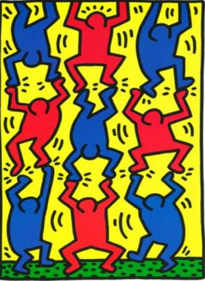 Keith haring ams art room for Keith haring figure templates